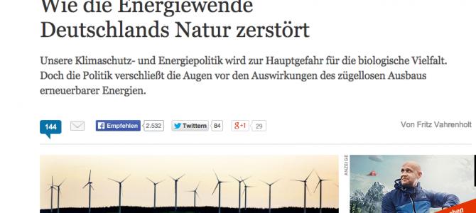 Wie die Energiewende Deutschlands Natur zerstört.