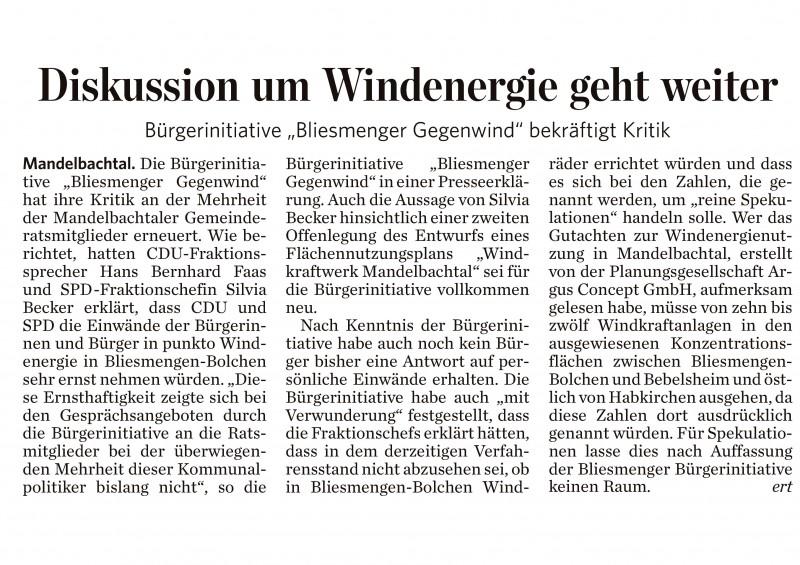 Gegendarstellung – Bürgerinitiative erneuert Kritik am Gemeinderat – SZ vom 1. Sept. 2014