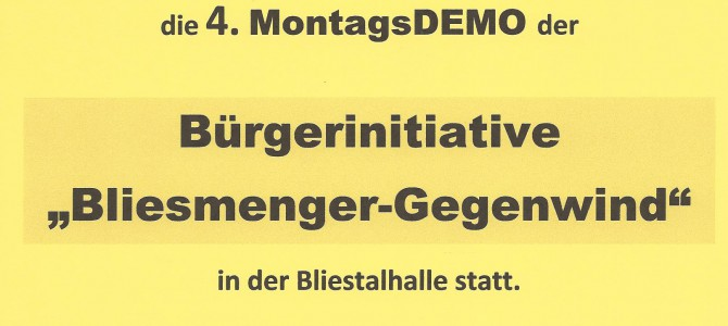 Plakat Montagsdemo