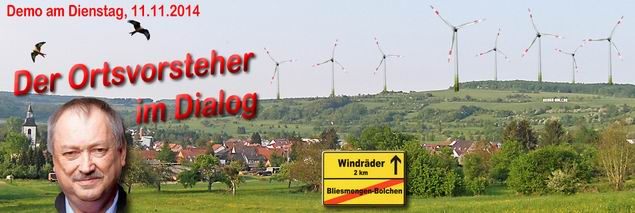 """Bilder der 5. MontagsDEMO  """"Der Ortsvorsteher im Dialog"""" 11. November 2014"""