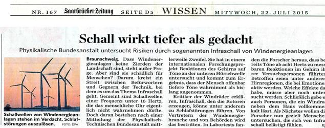 """Studie zu Infraschall bestätigt: """"Schall wirkt tiefer als gedacht"""""""