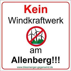 """Keine Konzentrationszone für Windkraft auf dem Allenberg – Presseinfo der BI """"Bliesmenger-Gegenwind"""" vom 15.01.2017"""