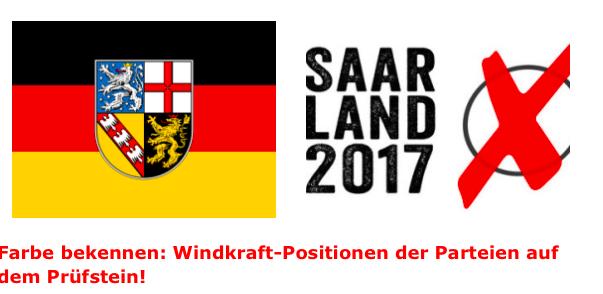 Farbe bekennen: Gegenwind Saarland setzt Windkraft-Positionen der Parteien zur Landtagswahl auf den Prüfstein – 20.01.2017