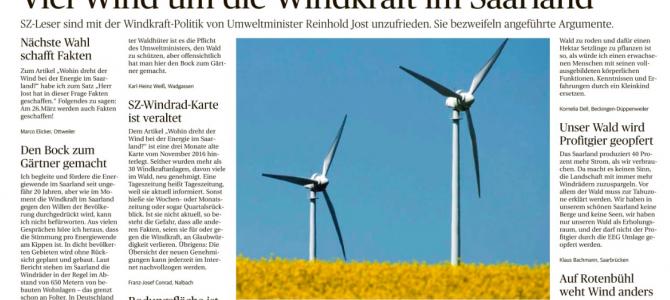 Viel Wind um die Windkraft im Saarland…