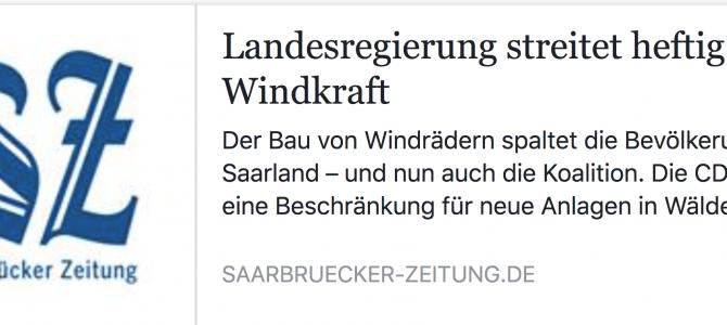 Der vehemente Windkraftausbau wird auch im Saarbrücker Landtag zunehmend zum politischen Schwerpunktthema.