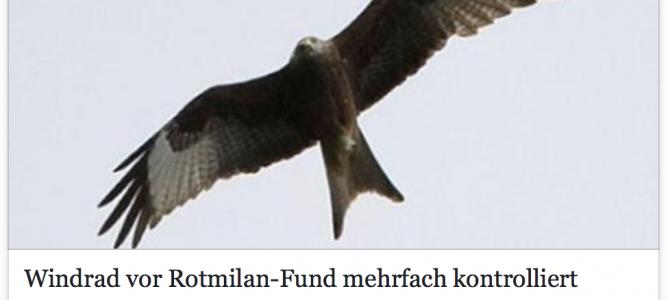 Bereits vor dem Fund eines toten Rotmilans hat die zuständige Behörde mehrfach Mängel an der betreffenden Windkraftanlage in Schmelz festgestellt – Bericht SR.de vom 23.05.2017
