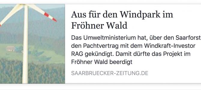 Aus für den Windpark im Fröhner Wald!